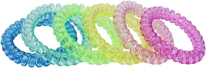 Sensory Stretchy Kids Coil Bracelets, 6 Pack Funny Speech and Communication Aid Bracelet Fidget Toys for Boys Girls with A...