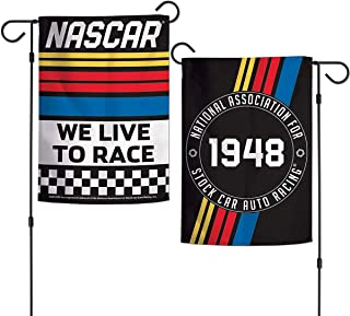 Wincraft NASCAR We Live to Race Double Sided Garden Banner
