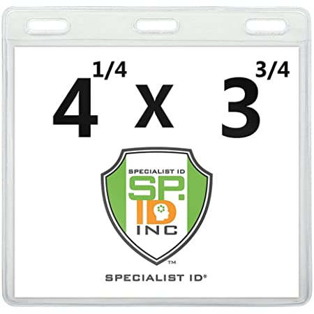 5 x Plastic Business ID Badge Card Vertical Holders with Neck Strap Lanyard YG