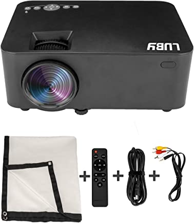 $189 Get Luby Portable Mini Movie Projector with Free Projector Screen Perfect for Fun Camping Neighborhood Gathering Backyard Movie