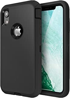 AICase iPhone XR Heavy Duty Case, Shockproof Tough Case, Rugged 3-in-1 Triple-Layer Drop Protection Phone Cover for Apple ...
