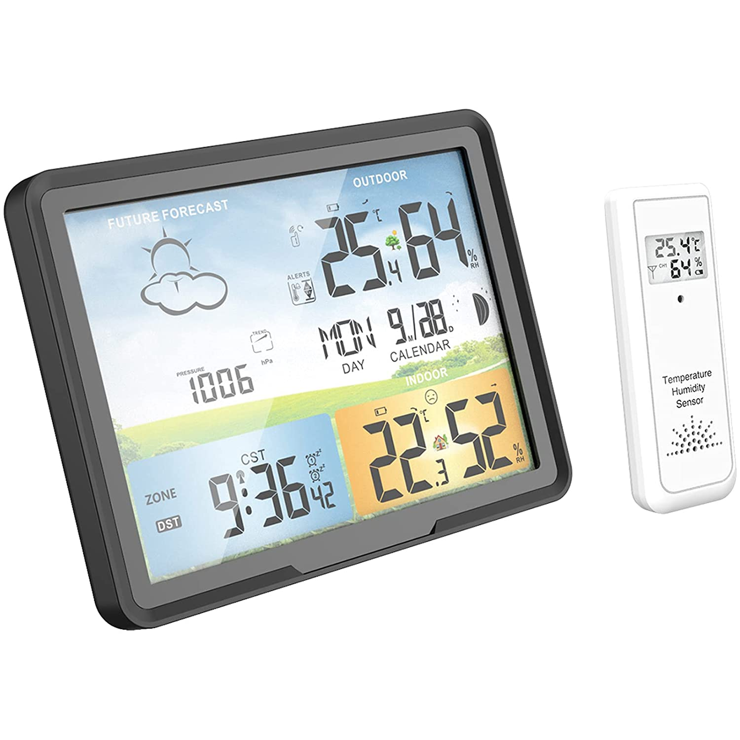 Baltimore Mall Limited price sale Weather Station Wireless Indoor Outdoor Jumbo with Sensors Displ