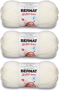 Bernat Bulk Buy Softee Baby Yarn Solids (3-Pack) Antique White 166030-30008