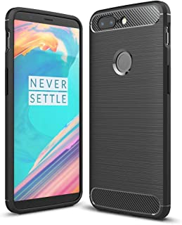 NALIA Silicone Case Compatible with OnePlus 5T, Ultra-Thin Protective Phone Cover Rugged TPU Rubber-Case Gel Soft Skin, Shockproof Slim Back Bumper Protector Back-Case Smartphone Shell - Black