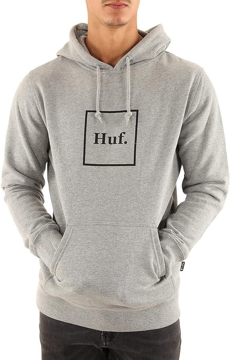 HUF Men's Box free Weekly update shipping Logo Hoodie O P