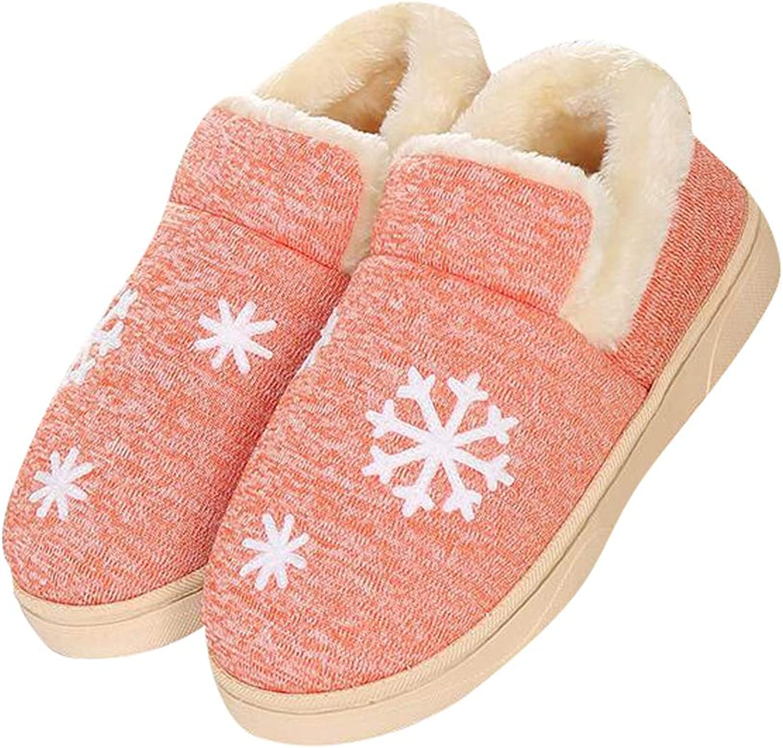 Tuoup Women's Cotton Anti-Slip Thermal Indoor Outdoor Bootie Slippers