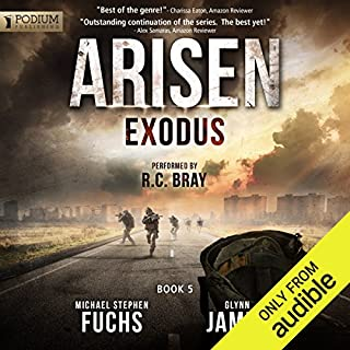 Exodus     Arisen, Book 5              Written by:                                                                                                                                 Michael Stephen Fuchs,                                                                                        Glynn James                               Narrated by:                                                                                                                                 R.C. Bray                      Length: 12 hrs and 18 mins     16 ratings     Overall 4.6