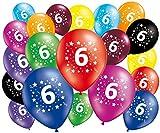 FABSUD –Lote de 20globos cumpleaños 6años–30cm