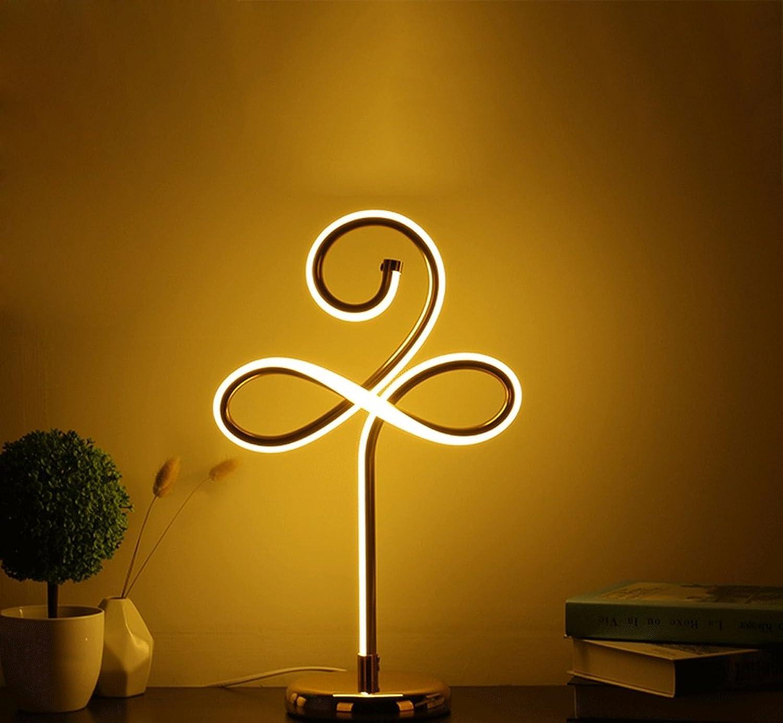 DGF LED Augenschutz Tischlampe, Schlafzimmer Nachttisch Kreative Note Lernen Jobs Leselampe (L19cm  H45cm) (Farbe   Warmes Licht)