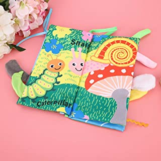 Children Cloth Book, Nibble Resistant Baby Cloth Book, for Baby Kids(3977-1 animals)