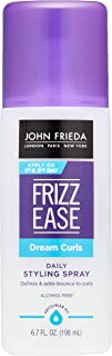 John Frieda Frizz Ease Dream Curls Spray, 6.7 Ounce Daily Styling Spray, Magnesium-enriched Formula, Revitalizes Natural C...