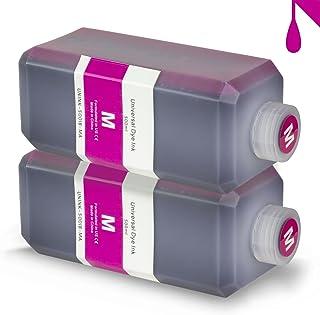 ALLINKTONER 2X Magenta Refill Ink 500 ml (16.9 oz) Bottle Compatible with Most Inkjet Printers & Refill Kit