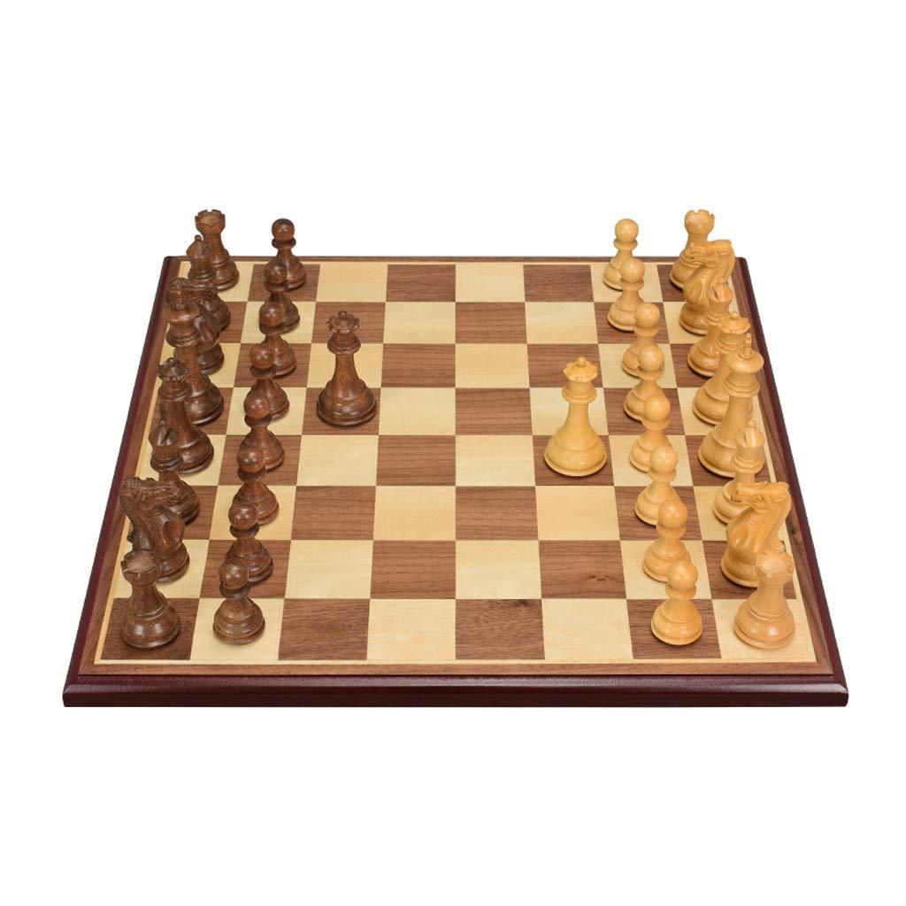 DUOER home Ajedrez Juego de ajedrez de Campeonato, Juego de ajedrez y Damas 2 en 1