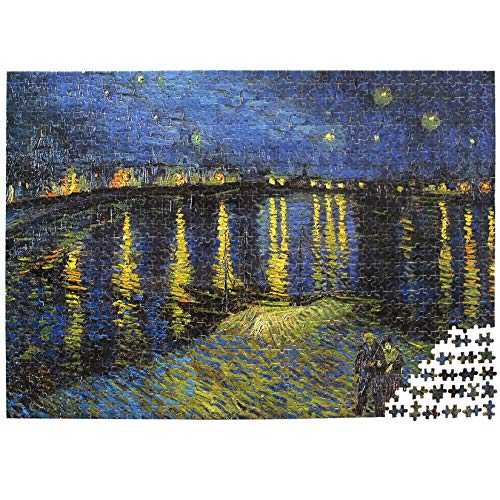 Moruska Starry Night Over The Rhone by Vincent Van Gogh Jigsaw Puzzle Wooden 1000