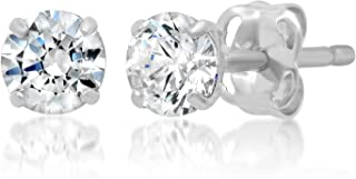 Best natural white zircon stud earrings Reviews