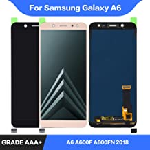 for Samsung Galaxy A6 Screen Display Assembly Replacement 2018 A600 LCD Display Touch Part for Samsung A6 A600F A600FN LCD (Black)
