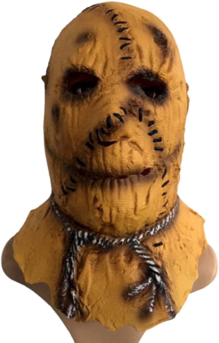QIXIAOCYB Máscara de Halloween Latex Horror Máscaras Motosierra Espantapájaros Mascarilla Mascarilla de Miedo for Adultos