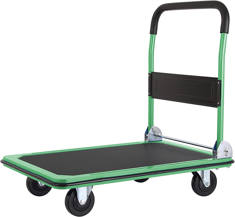 Pirecart Moving Platform Hand Truck R latest Regular discount Push Foldable Dolly Cart