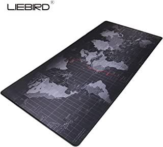 LIEBIRD Extended XXL Gaming Mouse Pad - Portable Large Desk Pad for Laptop - Non-Slip Rubber Base (XXL- 35.4