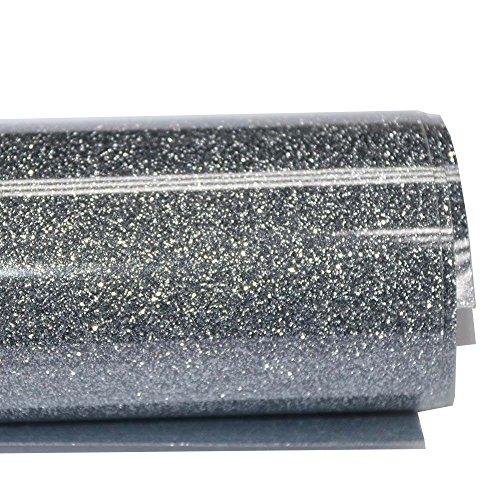 HOHOFILM - Vinilo de transferencia de calor con purpurina HTV, película de corte de vinilo para planchar sobre papeles DIY camiseta ropa para máquina de prensa térmica 50 cm x 200 cm