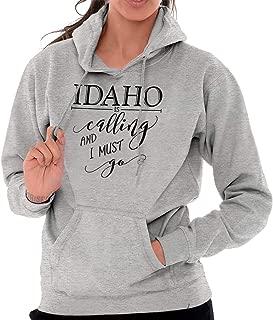 Idaho is Calling Love Traveling ID Novelty Hoodie