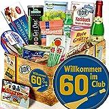 Wilkommen im Club 60 / Geschenk 60. Geburtstag / Präsentkorb Spezialitäten DDR
