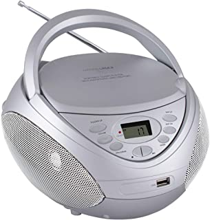 HANNLOMAX HX-326CD Portable CD/MP3 Boombox, AM/FM Radio, USB Port for MP3 Playback, Aux-in, LCD Display, AC/DC Dual Power ...