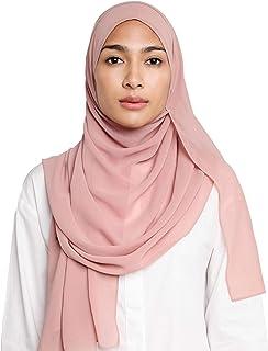 Chiffon Hijab Scarf for Women Solid Color Head Wrap Fashion Long Shawl Lightweight and Soft