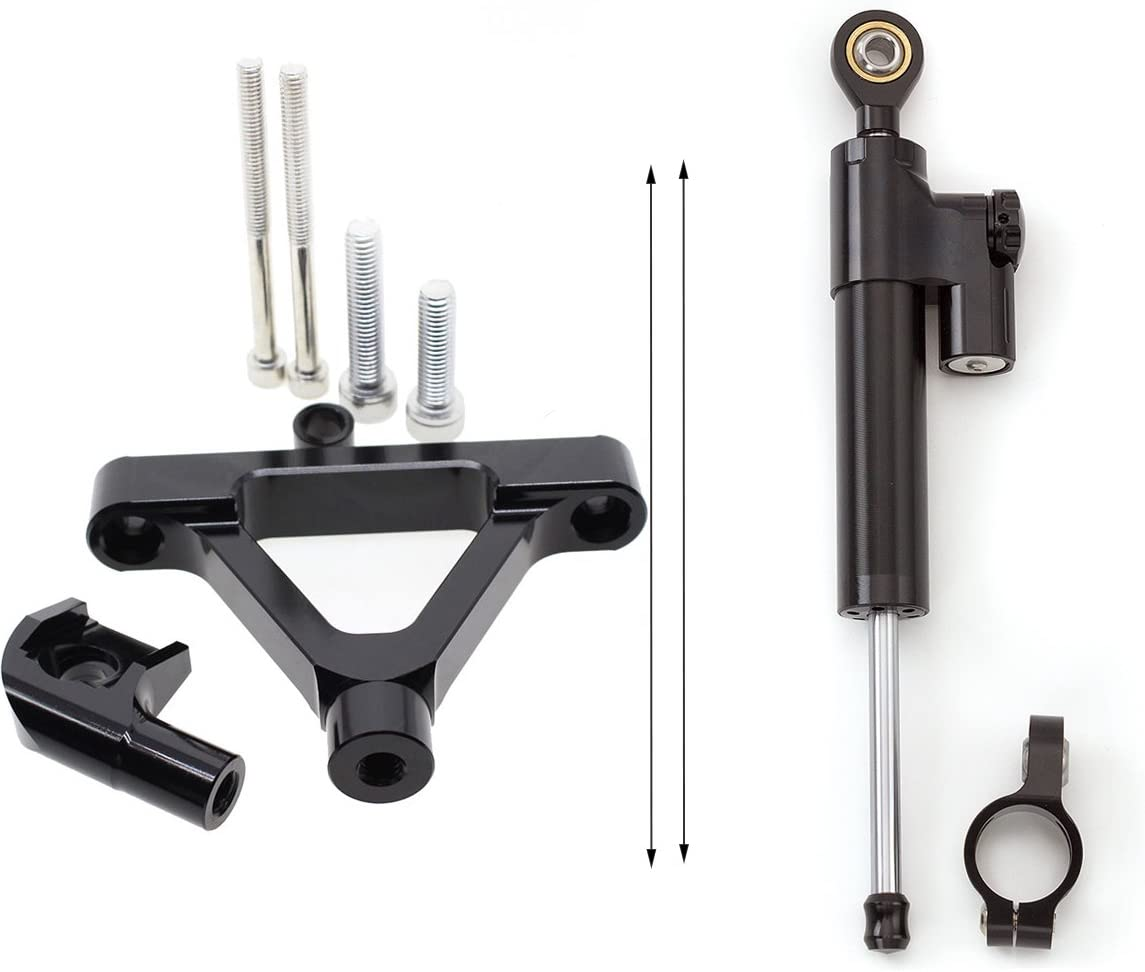 FXCNC Racing Motorcycle CNC Steering Damper Stabilizer Buffer Control Bar With Mounting Bracket Kit Full Set Fit For Kawasaki ZX10R 2004-2005