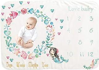 100 x 100 cm Manta para beb/é Mensuel Milestone Cicony