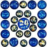beihuazi® Imanes de Nevera 24Piezas imán de frigorífico Cielo Estrellado/Animal Imanes para Nevera/Puerta/Pizarra/Mapa