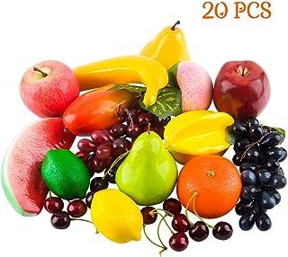 Jedfore Lot de 8 faux pommes rouges artificielles r/éalistes en plastique pour maison f/ête de mariage cuisine
