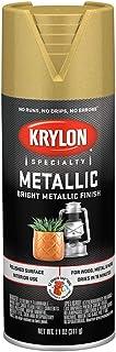 701 Krylon K01701777 Metallic Spray Paint, Bright Gold 11 Ounce (Pack of 1)