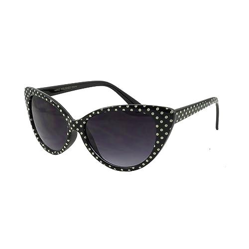 d4d403654f307a retroUV®®®®® - Tupfen Katzenauge Frauen Mod Mode Super Cat Sonnenbrille