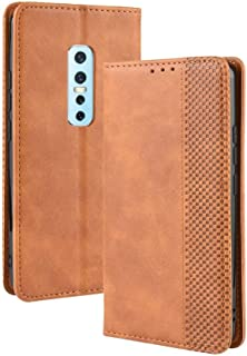 Leather Case Compatible with Vivo V17 Pro, PU Leather+Soft Inner Design Business Magnetic Closure Flip Wallet Case Cover Phone case (Color : Brown)