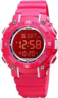 ساعة رقمية للأطفال من RUIWATCHWOR ساعات رياضية للطلاب في الهواء الطلق 7 ألوان LED مضيئة منبه ساعة إيقاف للأطفال متعددة الو...