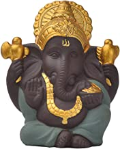 Generic Collection Ganesh Statue Lord of Success Sculpture Hindu Ganesha Figurine - D, as described