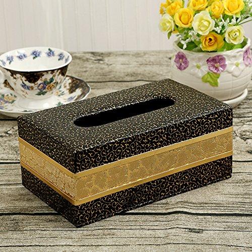 SFSYDDY-Leer zwart houten nieuwe wijn rode doos business medium leer papier rook doos luxe papieren doos H