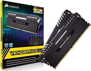 Corsair Vengeance RGB - Kit de Memoria Entusiasta de 32 GB (2 x 16 GB, DDR4, 3000 MHz, C16, XMP 2.0) Negro