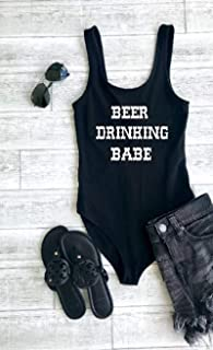 country fest outfit cute women's bodysuit music festival tops concert outfit beer drinking babe