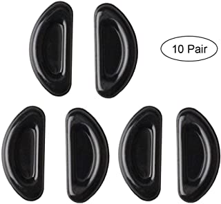 Volwco 10 Pairs Eyeglass Nose Pads, Adhesive Anti-Slip Soft Silicone Groove Nose Pads Cushion for Glasses Sunglasses Spectacles Eyeglasses Eyewear