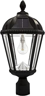 Gama Sonic GS-98B-F-BLK Royal Bulb Lamp Outdoor Solar Light Fixture, 3