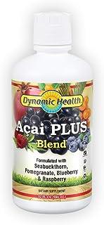 Dynamic Health Acai Plus Blend | With Seabuckthorn, Pomegranate, Raspberry & More | Vegetarian, No Gluten | 32oz, 32 Serv