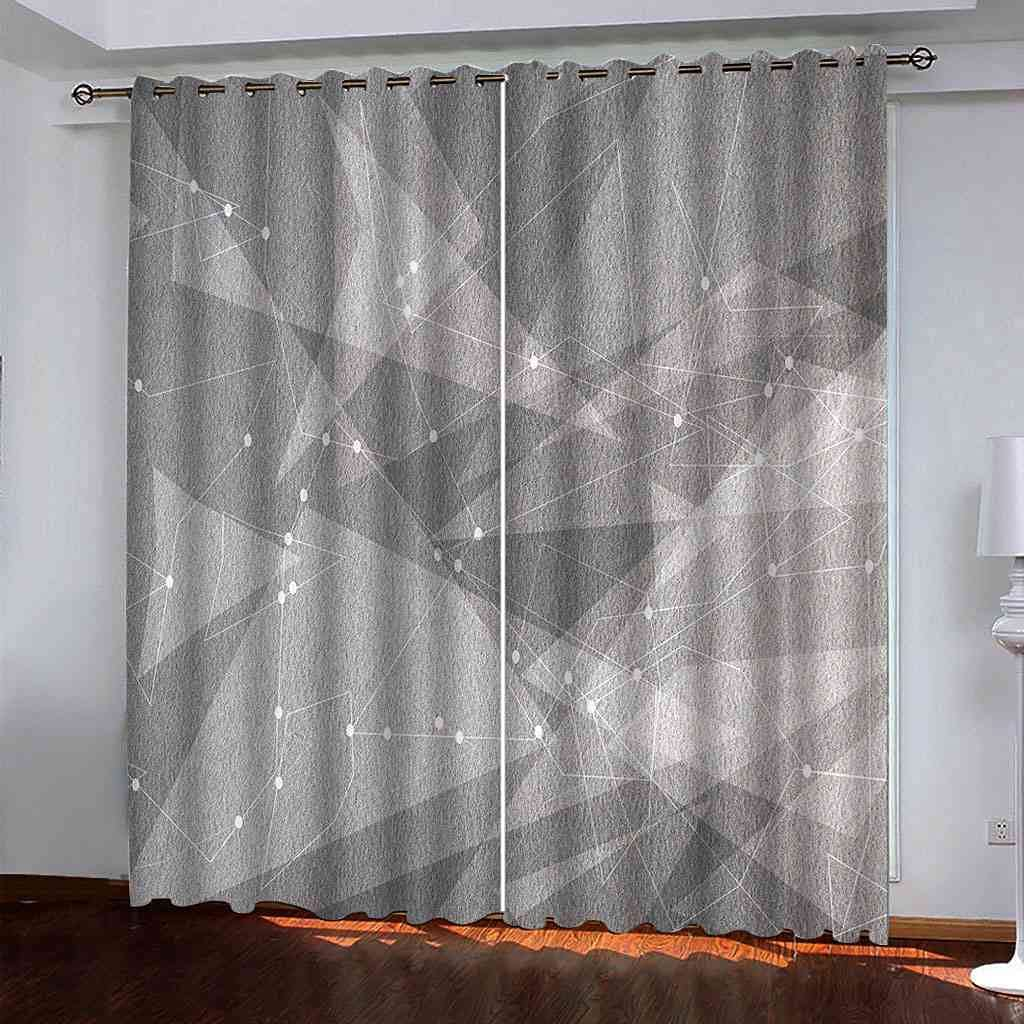 DSVNNZ Los Angeles Mall Printing Blackout Curtains for Retro Gray Panel Now free shipping 2 Bedroom