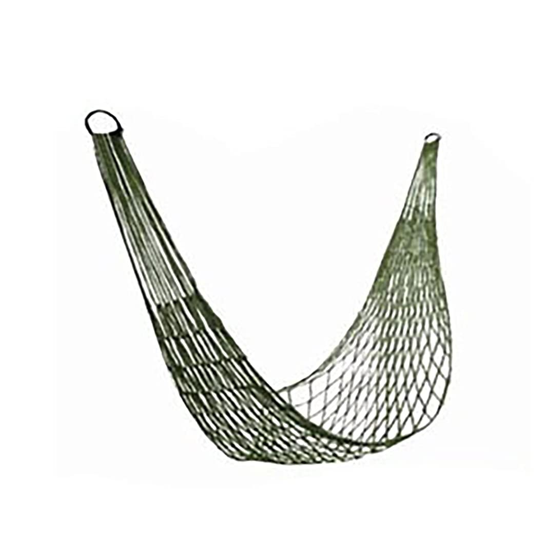 Faironly Portable Strong Nylon Mesh Rope Camping Hammock Net Hanging Nets for Hiking Outdoor Travel Sports Beach Yard Army Green