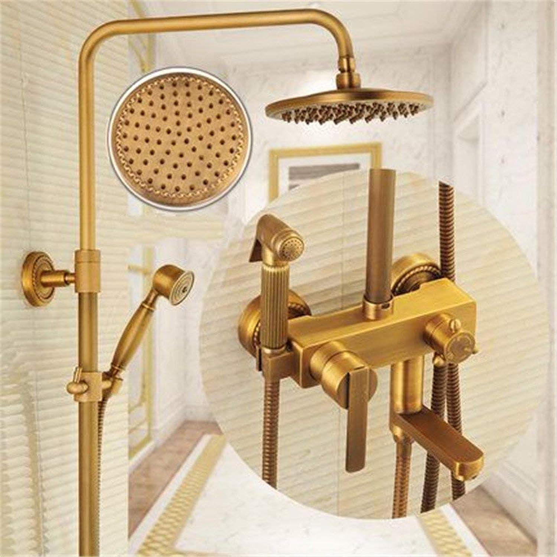 Volle Kupfer antik Badezimmer Dusche Wasserhahn Sprinkler,