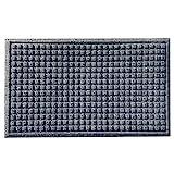 Nicoman Felpudo de Barrera de gofre raspar y Absorbente para Puerta Interior/Exterior, 75 x 45 cm, Color Gris