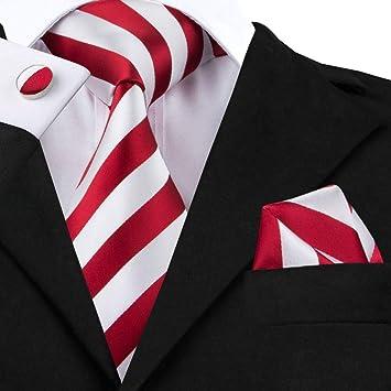 WOXHY Corbata de los Hombres Conjunto de Corbatas de Rayas ...