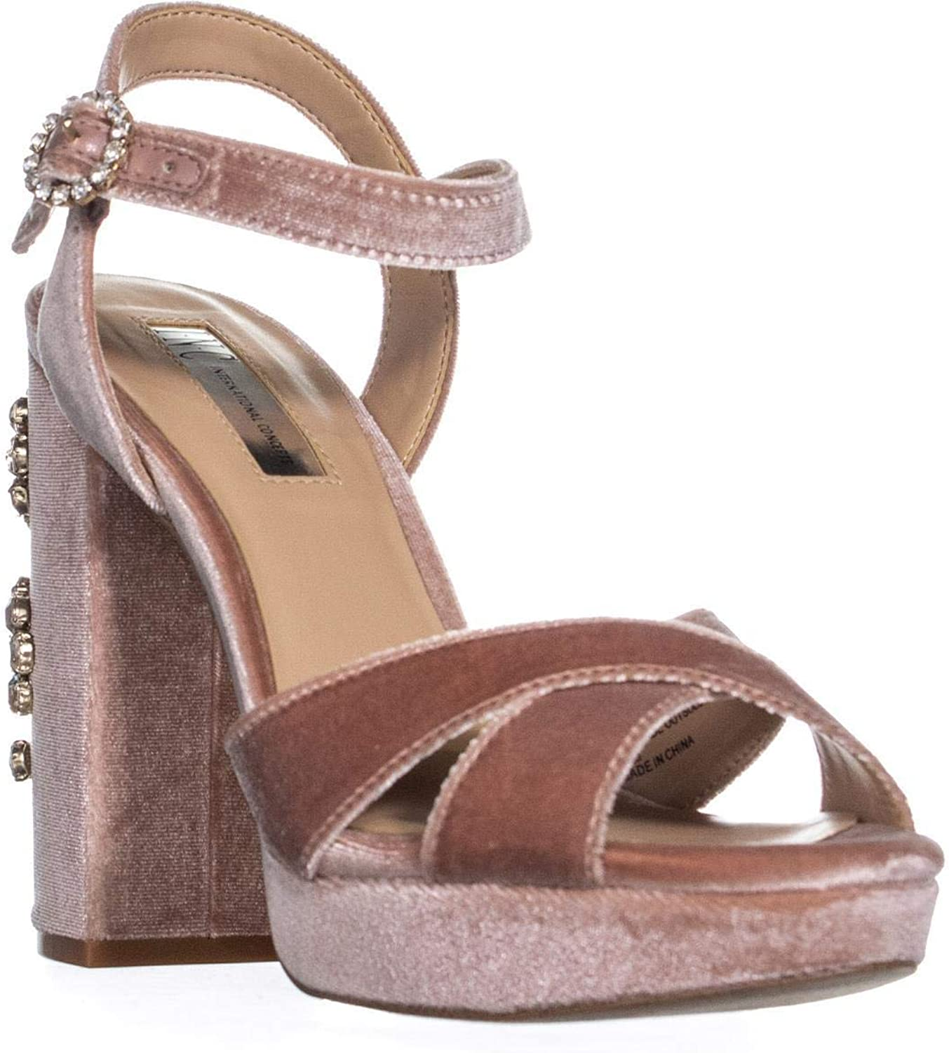 INC International Concepts Womens pinkrria Suede Open Toe Special Occasion St.