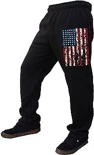 USA Flag Men's Fleece Sweatpants Black S-2XL American US